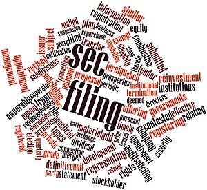 [Image] SEC Filing Word Cloud | Appointing a Duly Authorized Representative on SEC Registration Statements