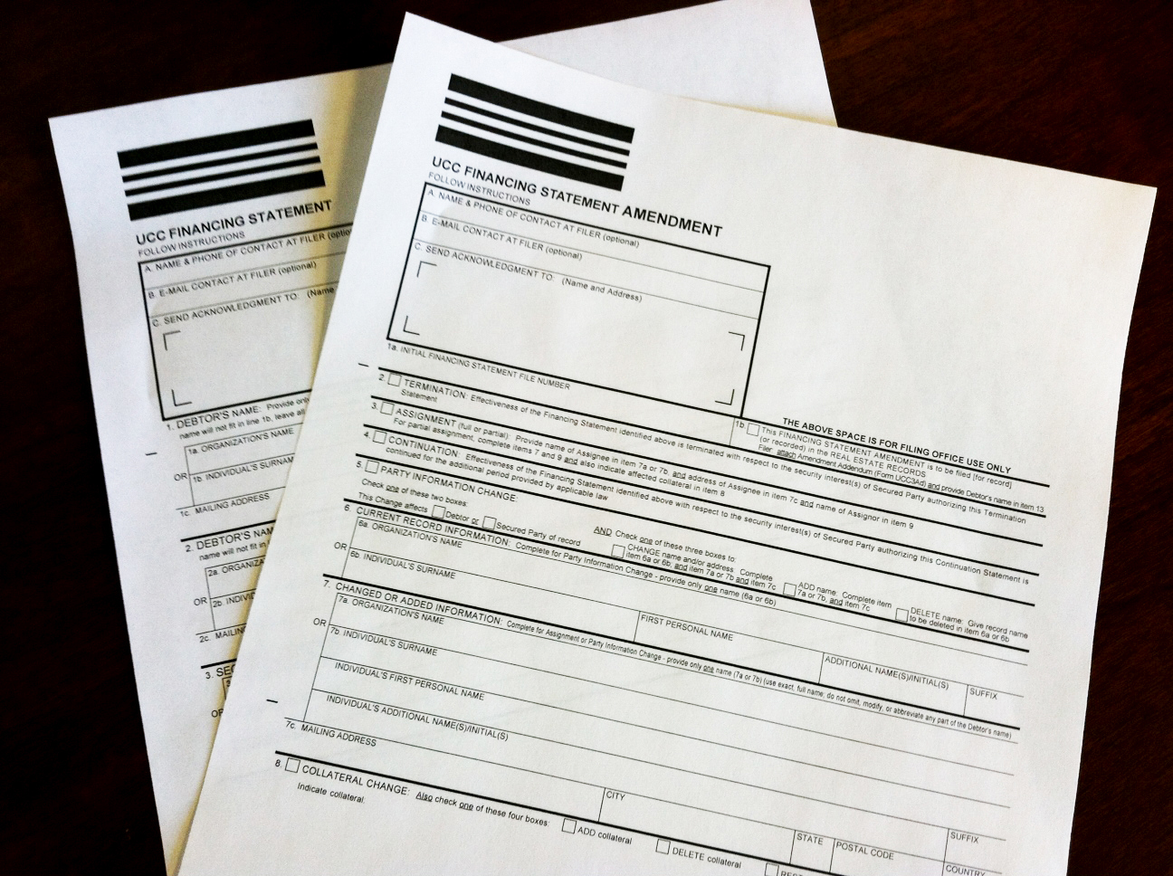 New UCC Forms