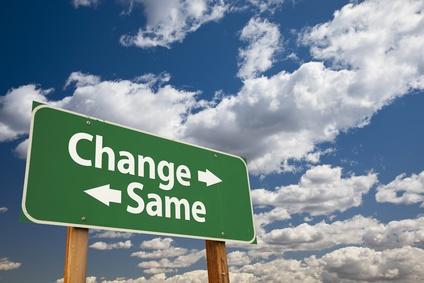 Change and Same Sign - Fotolia_49261577_XS