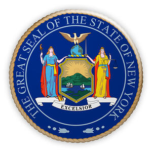 Image: Great Seal of New York State | Consent from Department of Financial Services, Board of Regents and Department of Tax and Finance