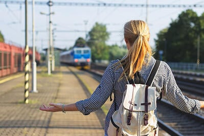 [Image] Woman Missing a Train | What if I Miss My Annual Report Deadline?