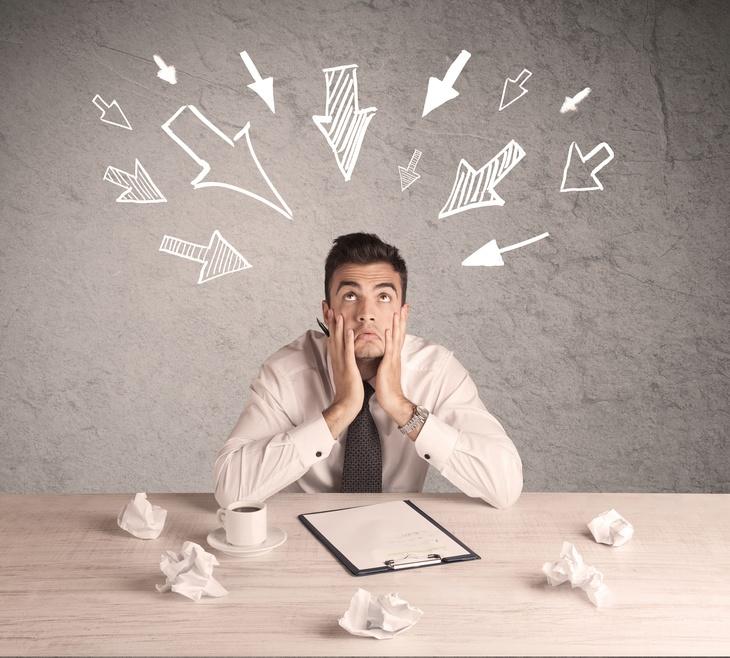 Overwhelmed Office Worker - Fotolia_109910730_S