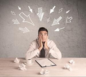 Overwhelmed Office Worker - Fotolia_109910730_S