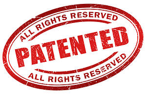 [Image] Illustrated patent stamp. | Patent search as part of intellectual property due diligence.