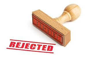 Rubber Stamp Marking REJECTED