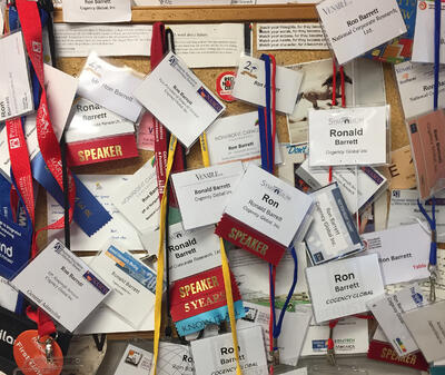 Regarding Experience, This is Ron's Name Badge Collection