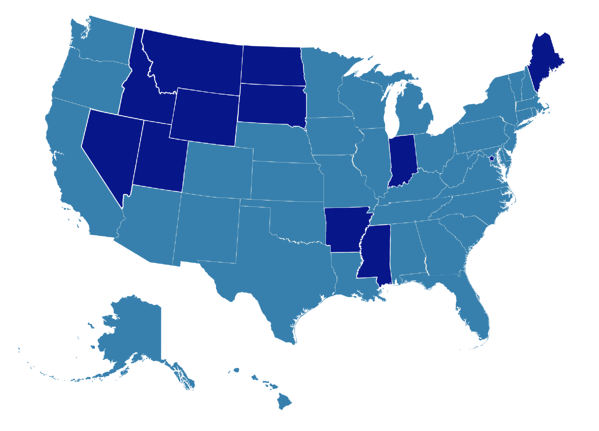 U.S. States That Have Adopted MoRAA (as of September 2018)