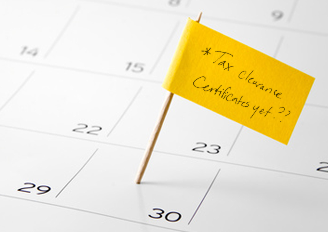 Tax Clearance Calendar Reminder cropped