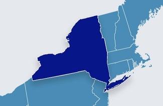 US Map - NY