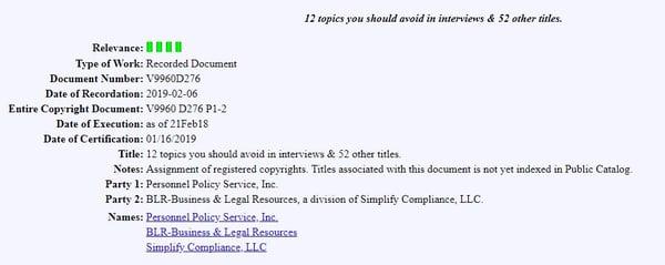 USCO Public Catalog Record Example 2019