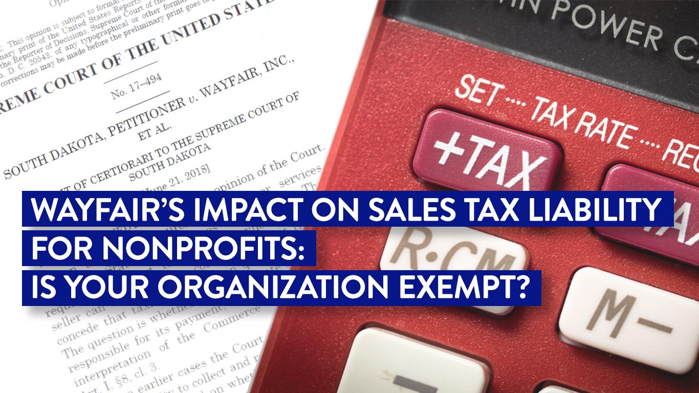 Wayfair Nonprofit Sales Tax Liability