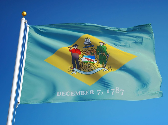 [Image] Delaware State Flag | Changes to Delaware Filing Deadlines for March 29th