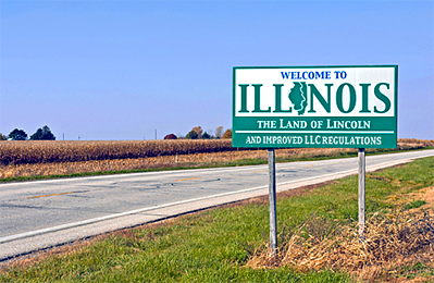 Illinois reduced filing fees for forming LLCs in late 2017.