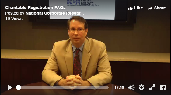 Charitable Registration FAQs with NCR's VP of Nonprofit Services Ron Barrett