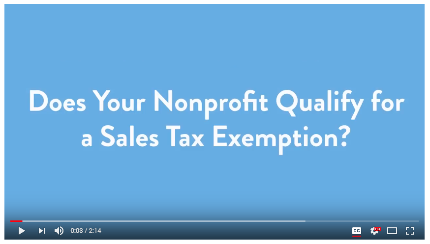 Obtaining State Sales Tax Exemptions for Nonprofits